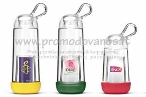 Plastikinės gertuvės su reklaminiu intarpu