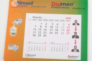 Klimėliai pelei su 12 lapų kalendoriumi