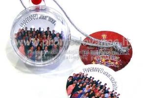 Kalėdiniai žaisliukai -burbulai su reklamine kortele