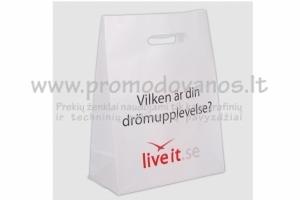 Plastikiniai maišeliai su kirsta rankena Luxury