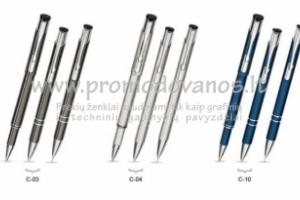 Rinkinys: metalinis tušinukas, pieštukas ir roleris CTPR