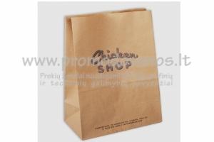 Popieriniai maišeliai produktų pakavimui su dugnu