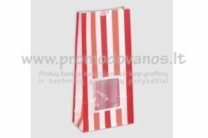 Popieriniai maišeliai produktų pakavimui su langeliu
