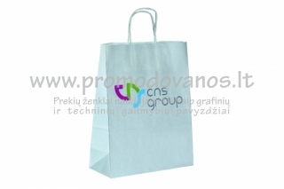 Popieriniai maišeliai su susuktomis popierinėmis rankenomis RIBBED
