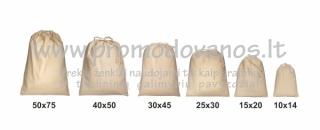 Užrišami medvilniniai maišeliai