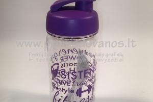 Plastikinė gertuvė 600 ml sport clear