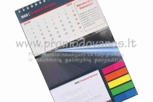 Stalinis kartono kalendorius 240 x 150 mm, kalendoriaus segimas spirale