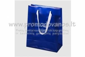 Plastikiniai maišeliai su virvelinėmis rankenomis