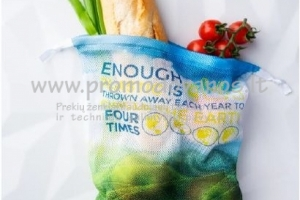 Užrišami maišeliai su spalvota individualia spauda