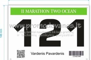 Bėgikų numeriai iš presuoto poliesterio pluošto