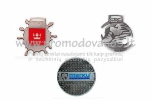 Metaliniai medaliai individualaus dizaino