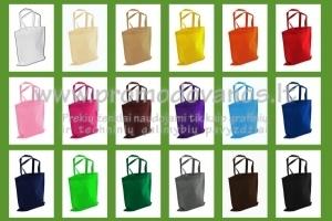 Medžiaginiai maišeliai 38x42 cm, pusiau trumpomis rankenomis 48 cm