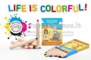 Pieštukai reklaminiame įpakavime