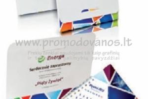 Piramidė išlankstoma, su kalendoriumi su reklamine spauda