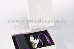 Įkrovėjas powerbank 5200 mAh+LED lemputė