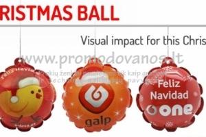 Kalėdiniai pripučiami žaisliukai-burbulai 80 mm