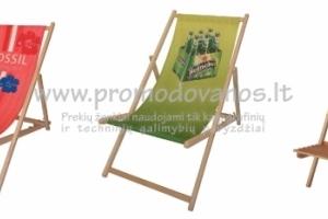 Reklaminiai sežlongai ir kėdės