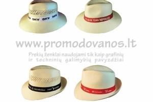 Reklaminės šiaudinės skrybėlės