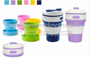 Silikoniniai sudedami puodeliai