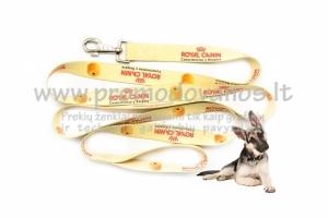 Šunų pavadėlis su reklamine spauda