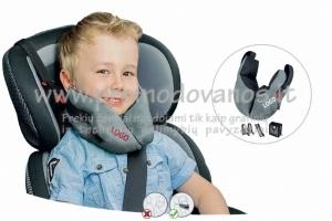 ¬Kelioninė pagalvė vaikams. Tinka vaikams nuo 18 mėnesių iki 12 metų. Pagalvė užtikrina vaiko galvos saugią padėtį bei miegą važiuojant automobilyje, vežimėliuose, nėšinėse, dviračių galinėse sėdinėse vaikams.
