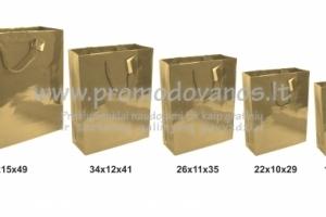 Auksiniai blizgus popieriniai maišeliai