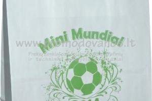 Popieriniai maišeliai su plokščiomis popierinėmis rankenomis
