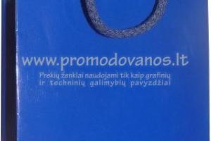 Popieriniai maišeliai 24 x 9 x 33 cm laminuoti su virvelinėmis rankenomis EKOLUX