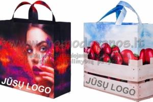 Personalizuoti medžiaginiai maišeliai su pilna spauda ir pastiprintu dugnu