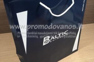 B1 Popieriniai maišeliai su virvelinėmis rankenomis ir 1 spaudos spalva